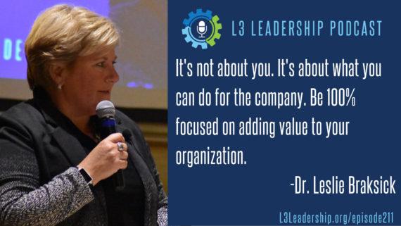L3 Leadership Podcast 211: Preparing for Executive Leadership with Dr. Leslie Braksick